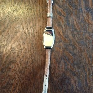 Brighton Accessories - Nice Brighton Dual Time Curved Case Watch